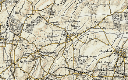 Old map of Belton in 1902-1903