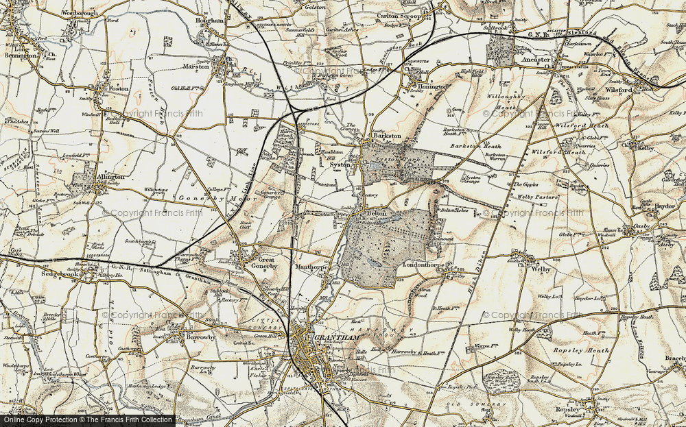 Old Map of Belton, 1902-1903 in 1902-1903