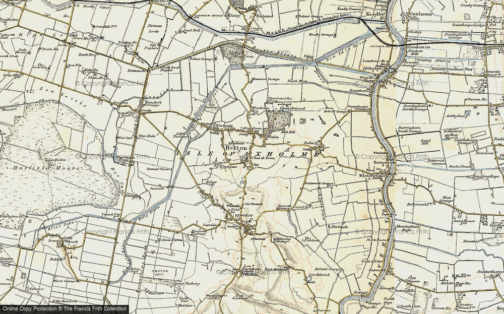 Old Map of Belton, 1903 in 1903