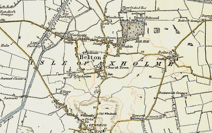 Old map of Belton in 1903