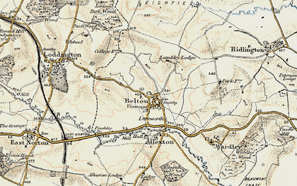 Old map of Belton-in-Rutland in 1901-1903