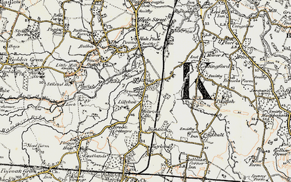 Old map of Lily Hoo in 1897-1898