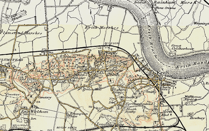 Old map of Belvedere in 1898