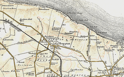 Old map of Bempton in 1903-1904