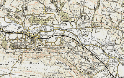 Old map of West Park Wood in 1903-1904