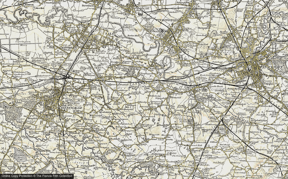 Old Map of Benchill, 1903 in 1903