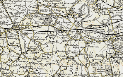 Old map of Benchill in 1903