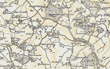 Old map of Bendish in 1898-1899