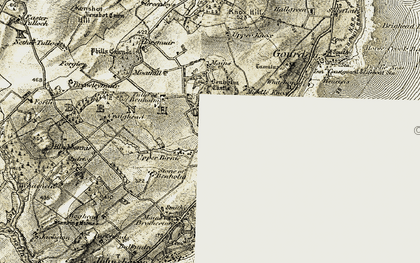 Old map of Tillygrain in 1908