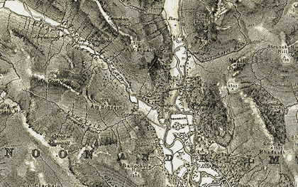 Old map of Allt Corrach in 1905-1907