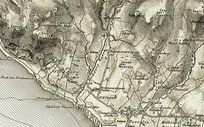Old map of Leaca Mòr in 1905-1906