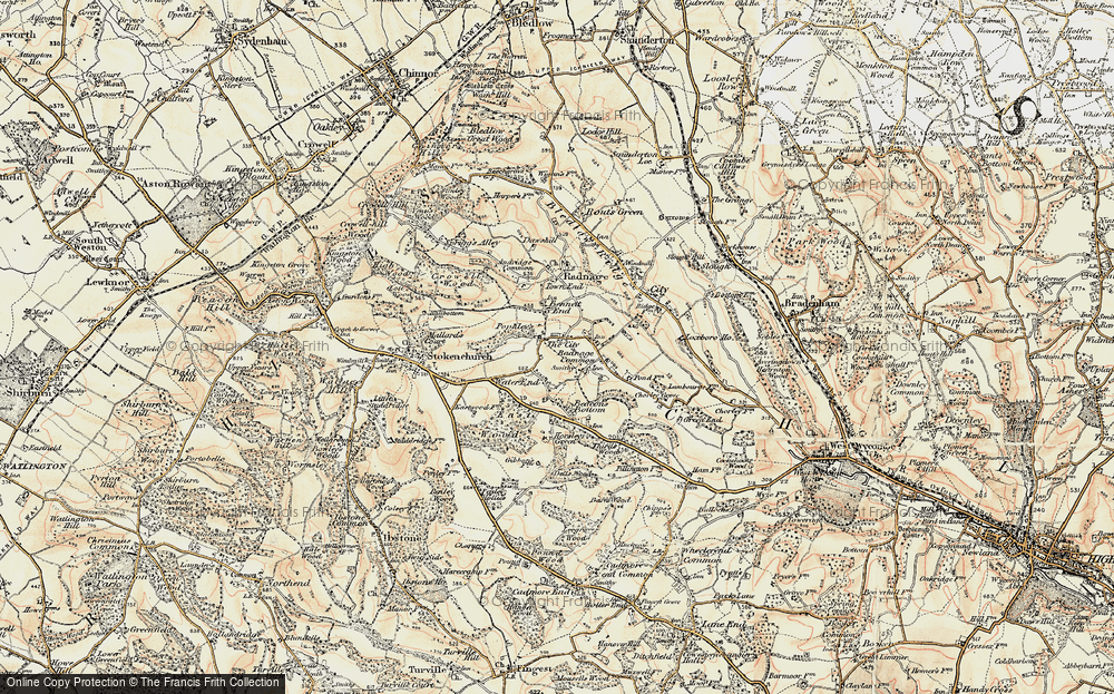 Old Map of Bennett End, 1897-1898 in 1897-1898
