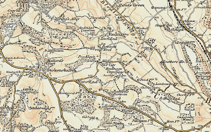 Old map of Bennett End in 1897-1898