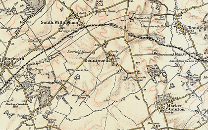 Old map of Benniworth in 1902-1903