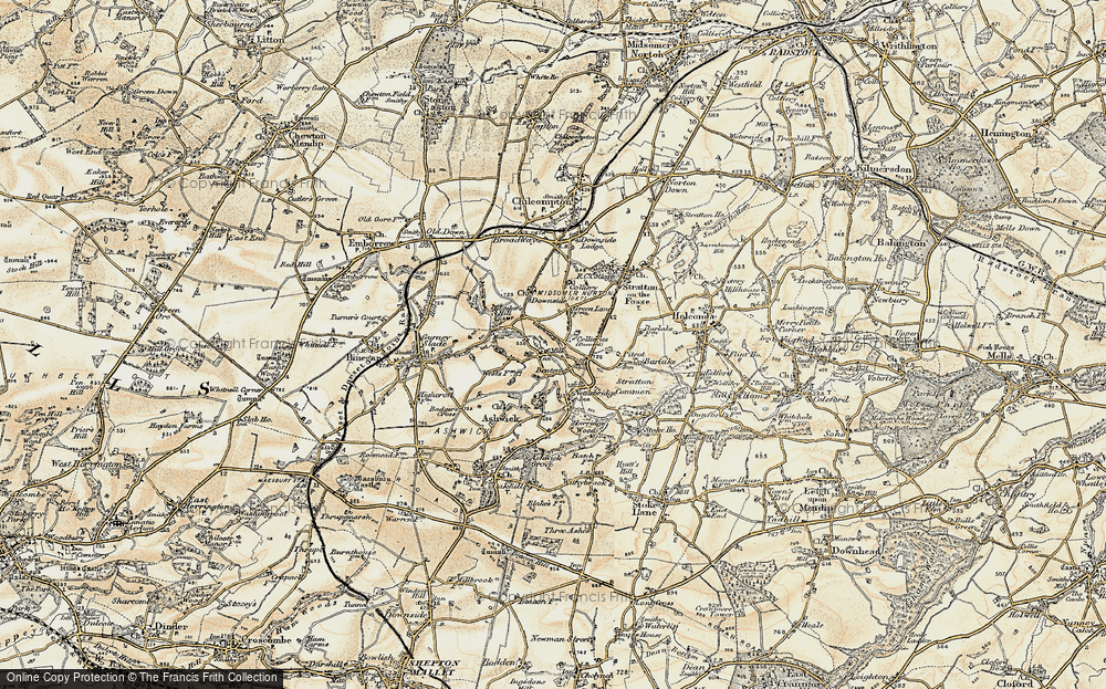 Old Map of Benter, 1899 in 1899