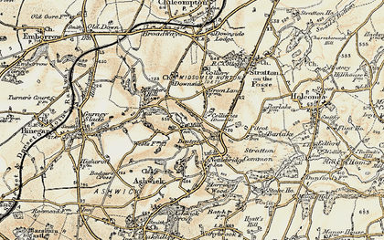 Old map of Benter in 1899