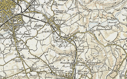 Old map of Bentgate in 1903