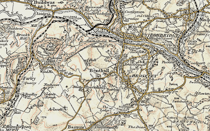 Old map of Benthall in 1902
