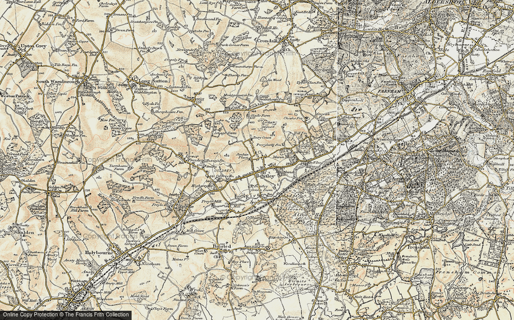 Old Map of Bentley, 1897-1909 in 1897-1909