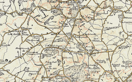 Old map of Ashwells in 1898