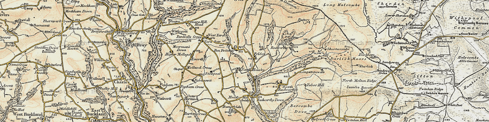 Old map of West Yarde in 1900