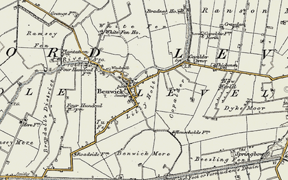 Old map of Lilly Holt in 1901