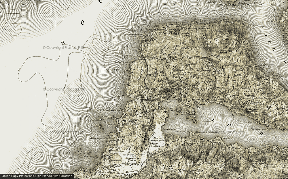 Old Map of Historic Map covering Toigal in 1906-1908