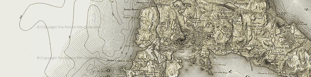 Old map of Toigal in 1906-1908