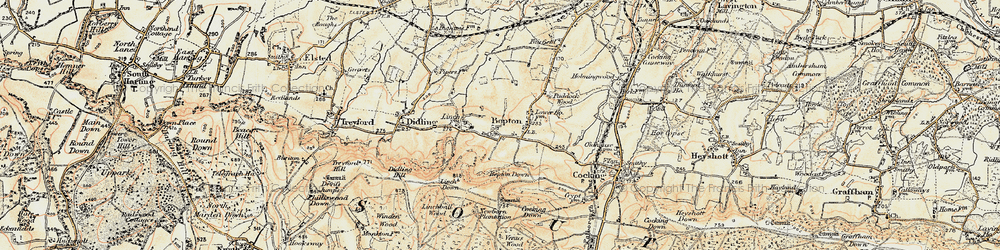 Old map of Bepton in 1897-1900