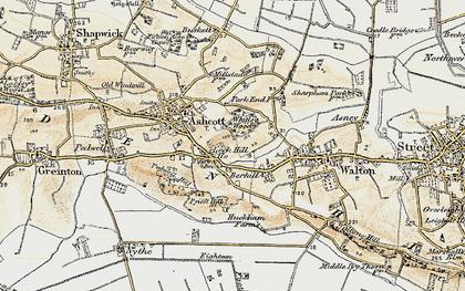 Old map of Berhill in 1898-1900