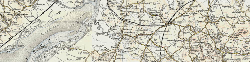 Old map of Wickselm in 1899-1900