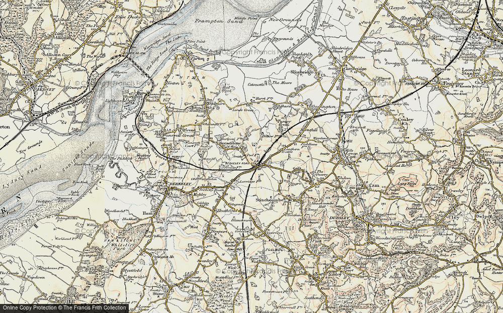 Old Map of Berkeley Road, 1898-1900 in 1898-1900