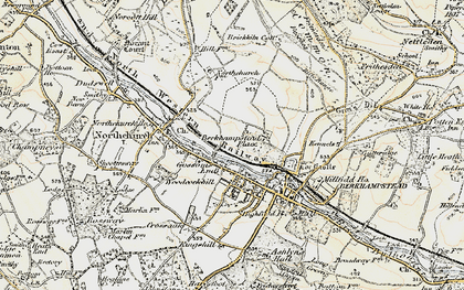 Old map of Berkhamsted in 1898