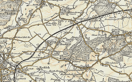 Old map of Woodman's Hill in 1898-1899
