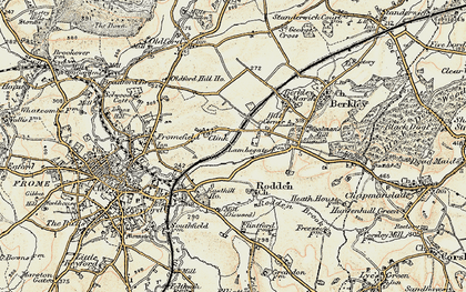Old map of Berkley Down in 1898-1899