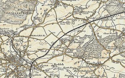 Old map of Berkley Marsh in 1898-1899
