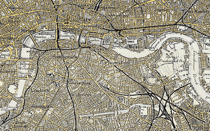 Old map of Bermondsey in 1897-1902