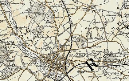 Old map of Bernards Heath in 1898