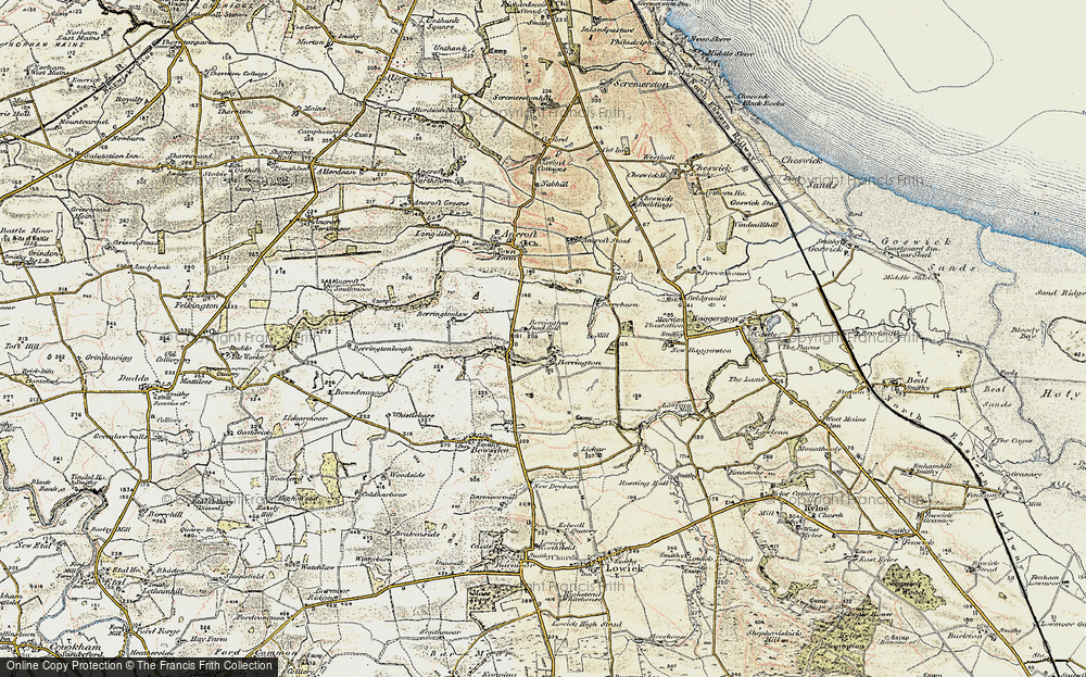 Old Map of Historic Map covering Lickar Dean in 1901-1903