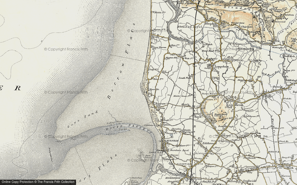 Old Map of Historic Map covering Lark Spit in 1899-1900