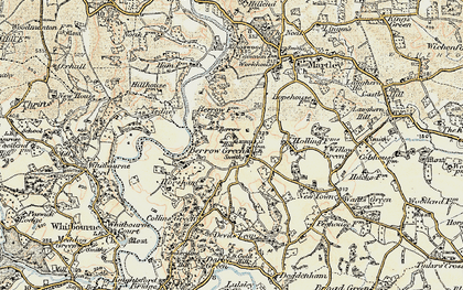 Old map of Worcestershire Way in 1899-1902