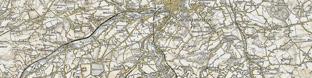 Old map of Berry Brow in 1903