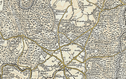 Old map of Berry Hill in 1899-1900