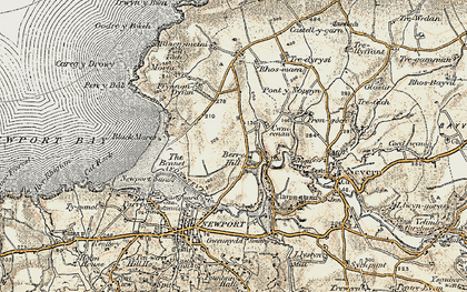 Old map of Berry Hill in 1901-1912