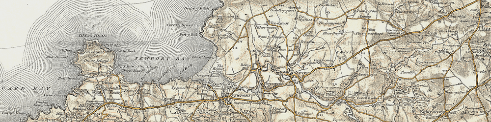 Old map of Wynston in 1901-1912