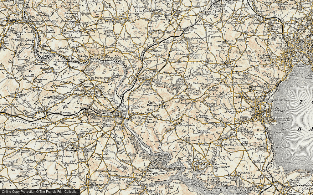 Old Map of Berry Pomeroy, 1899 in 1899