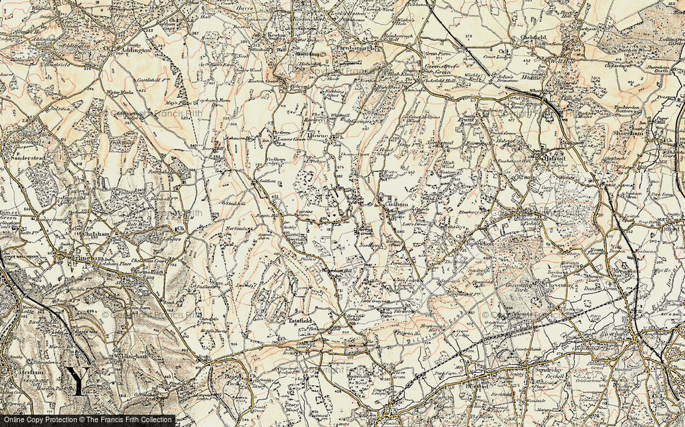 Old Map of Berry's Green, 1897-1902 in 1897-1902