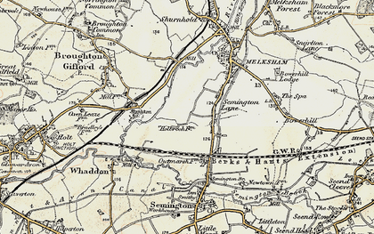 Old map of Berryfield in 1898-1899