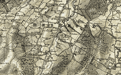 Old map of Backies in 1910
