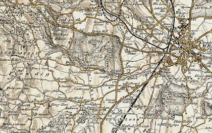 Old map of Bersham in 1902